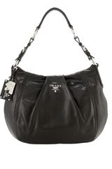 Prada Large Soft Calf Hobo - Lyst