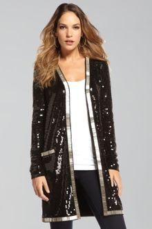 Rachel Zoe Linda Long Beaded Jacket - Lyst
