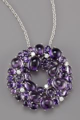 Roberto Coin Amethyst & Diamond Necklace - Lyst