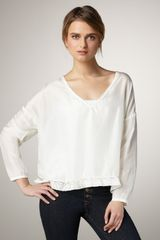 Textile Elizabeth And James Benny Lace-trim Top - Lyst
