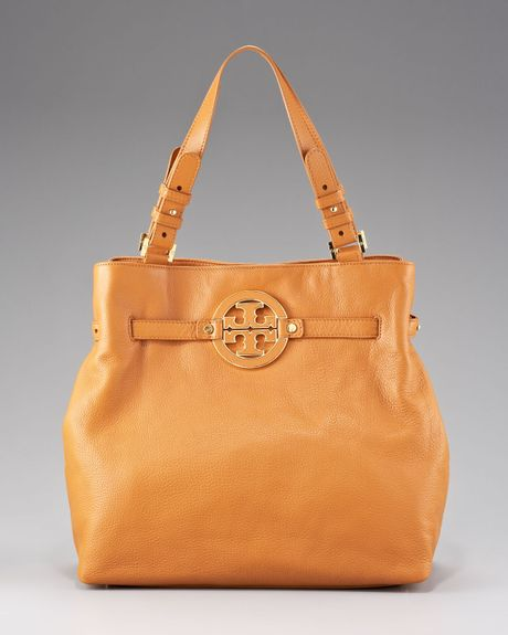 Tory Burch Amanda Tote in Yellow (camel) - Lyst