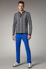 Versace Slim Blue Jeans in Blue for Men - Lyst
