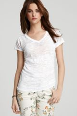 Alternative Tee Diane Burnout V Neck - Lyst