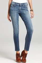 Ash Citizens Of Humanity Jeans Thompson Medium Rise Cropped Skinny Jeans in True Wash - Lyst