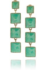 Aurelie Bidermann Cherokee Goldplated Turquoise Clip Earrings - Lyst