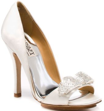 Badgley Mischka Isadora Satin - Lyst