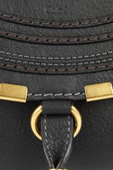 Chloé Marcie Leather Shoulder Bag in Black - Lyst