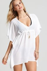 Echo Solid Butterfly Coverup - Lyst