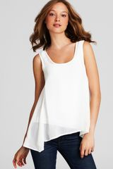 French Connection Top Army Flare Tank - Lyst