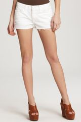 J Brand Shorts Cutoff Denim Shorts in White - Lyst