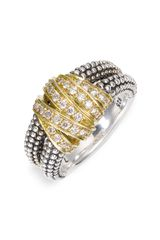 Lagos Embrace Medium Ring in Silver (sterling silver/ gold) - Lyst