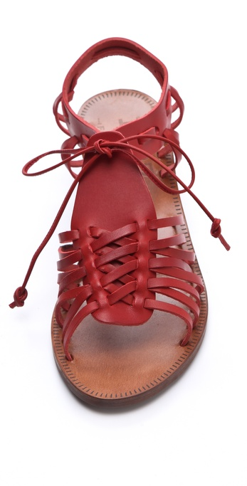 Madewell Huarache Wedge Sandals In Red Lyst
