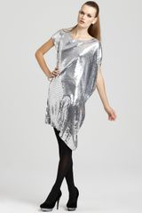 Michael Kors Michael Sequin Asymmetric Dress - Lyst