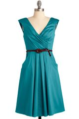 ModCloth Occasion By Me Dress in Teal - Lyst