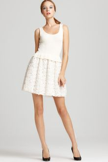 Moschino Cheap & Chic Dress Knit with Rosette Skirt - Lyst
