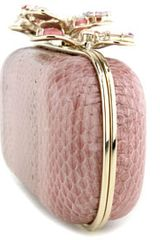 Nina Ricci Jeweled Clutch in Pink - Lyst