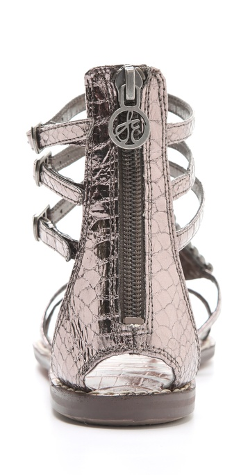 Sam Edelman Ginger Studded Gladiator Sandals In Metallic Lyst