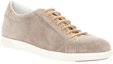 Santoni Laceup Sneaker in Brown for Men - Lyst