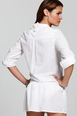 Splendid Carnival Tunic Coverup in White - Lyst