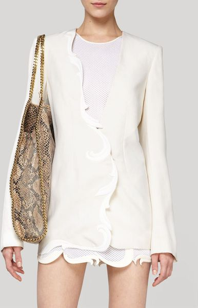 Stella Mccartney Egg White Dry Slub Johnson Jacket in White (egg white) - Lyst