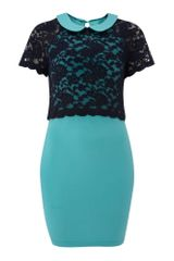Tfnc Short Sleeve Laced Dress - Lyst