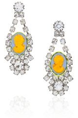 Tom Binns Samba Swarovski Crystal Cameo Earrings - Lyst