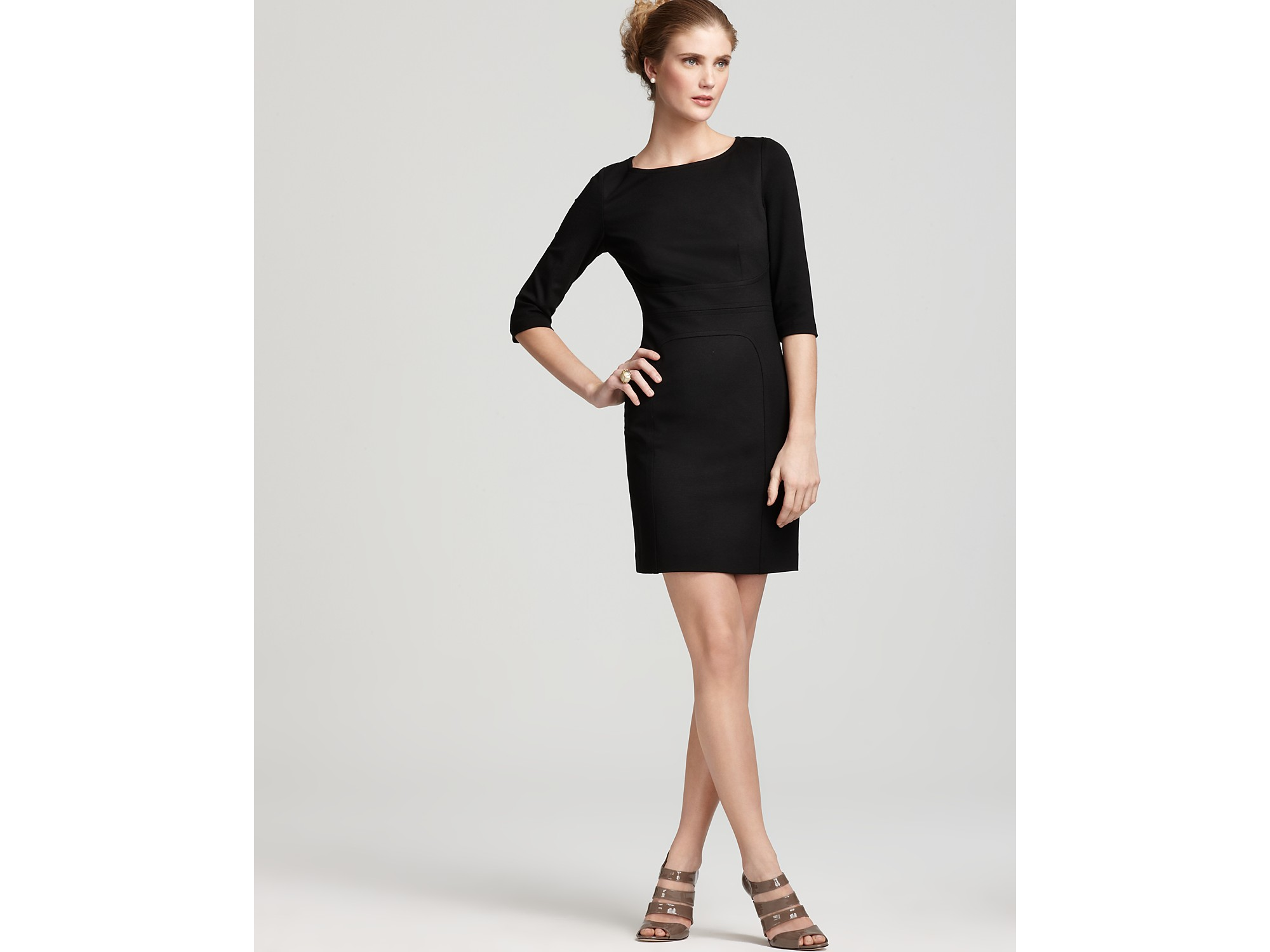 Trina turk Dress Edison Ponte Knit in Black - Lyst