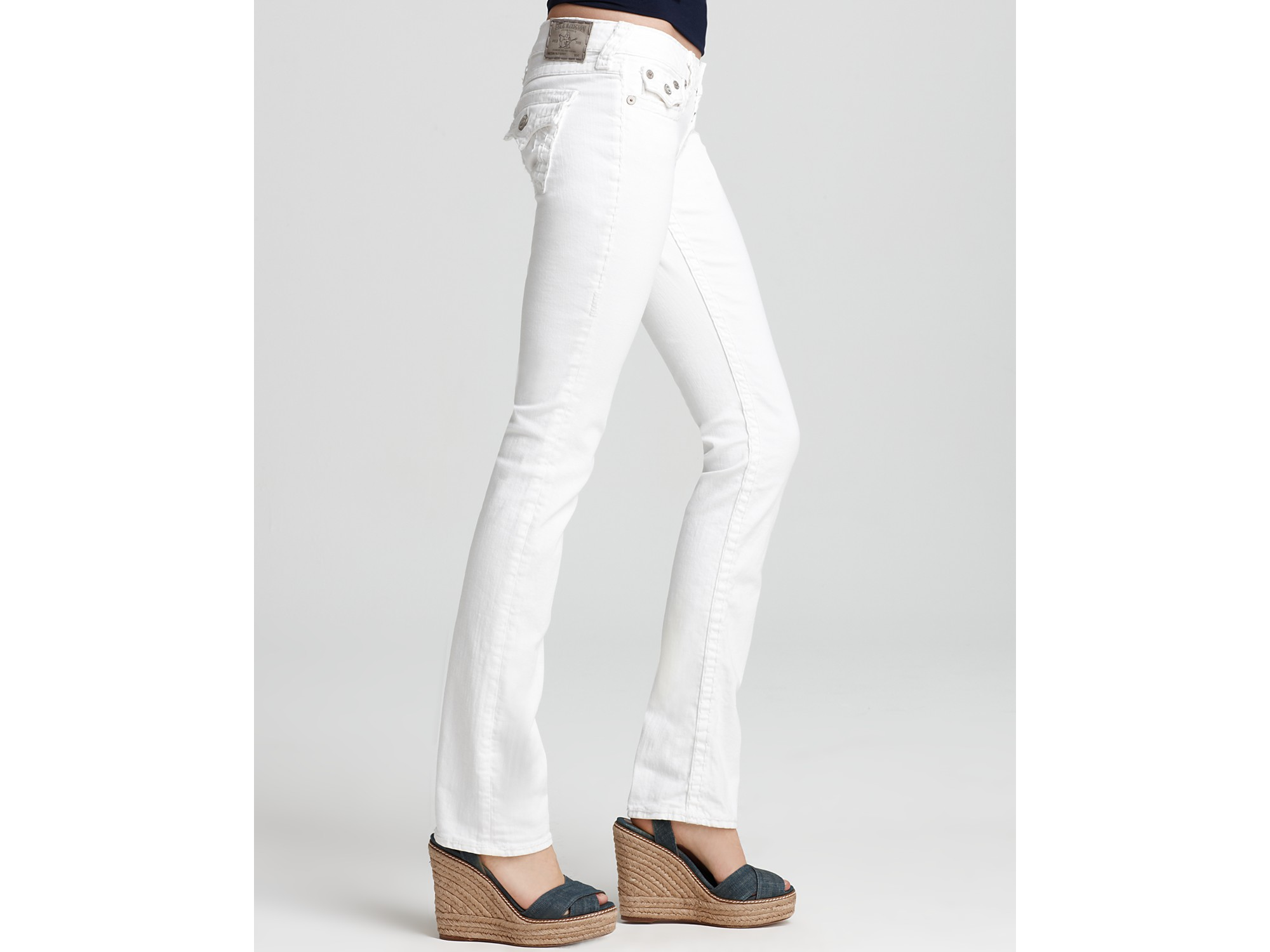True religion Jeans Billy Super T Straight Leg Jeans in White in ...