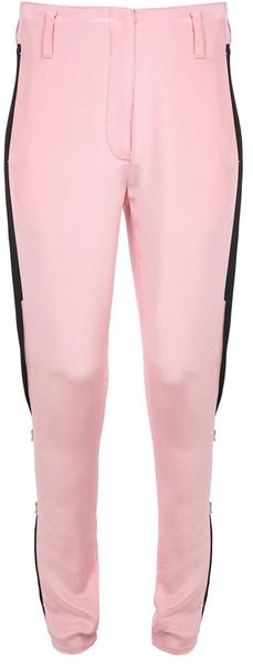 3.1 Phillip Lim Twotone Crepe Silk Trousers with Zipped Legs in Pink (black pink) - Lyst
