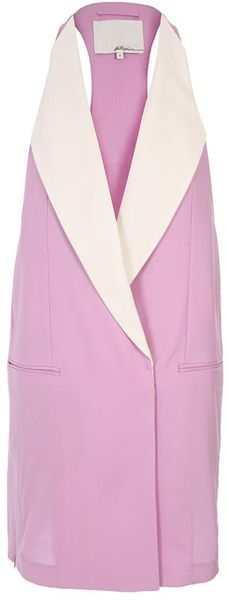 3.1 Phillip Lim Sleeveless Tuxedo Jacket in Purple (lilac) - Lyst