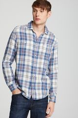 7 For All Mankind Plaid Woven Sport Shirt Classic Fit - Lyst