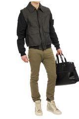 Adam Kimmel Washed Cottonlinen Bomber Jacket in Black for Men (black multi) - Lyst