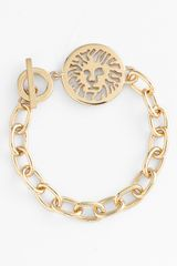 Ak Anne Klein Lion Detail Toggle Bracelet - Lyst
