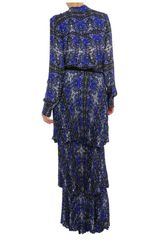 A.l.c. Izzie Printed Silk Blouse in Blue (blue multi) - Lyst