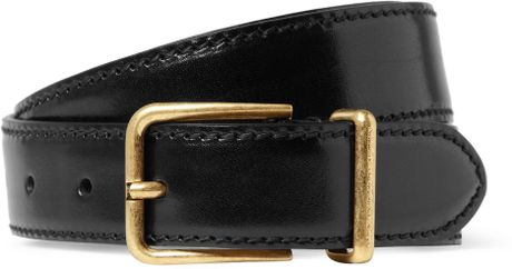 Alexander Mcqueen Patentleather Belt in Black for Men - Lyst