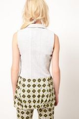 Asos Africa Sleeveless Jacket in Small Geo Print in Gray (multi) - Lyst