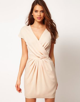Asos Asos Wrap Dress W Zip Back - Lyst