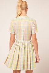 Asos Collection Shirt Dress in Pastel Check in Multicolor (print) - Lyst