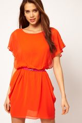 ASOS Collection Asos Tulip Dress With Flute Sleeves - Lyst