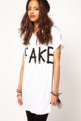 ASOS Collection Asos Tshirt with Fake Sticker - Lyst