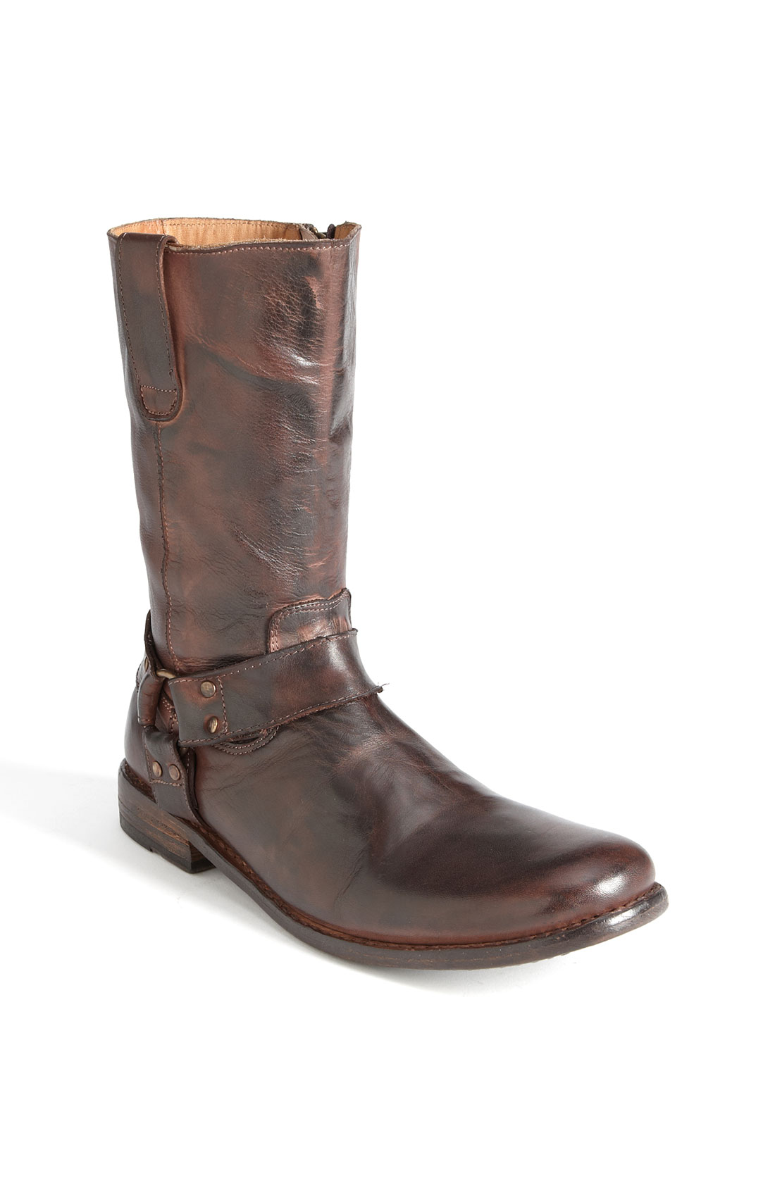bed stu libra boot in brown for teak rustic leather