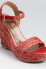 Belle By Sigerson Morrison Sandals Lucia Raffia Wedge - Lyst