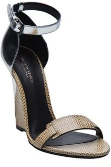 Bottega Veneta Leather Wedge Sandal - Lyst