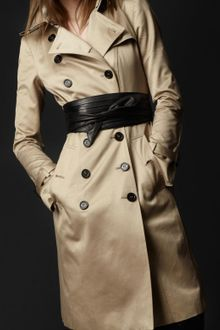 Burberry Prorsum Kneelength Cotton Trench Coat - Lyst