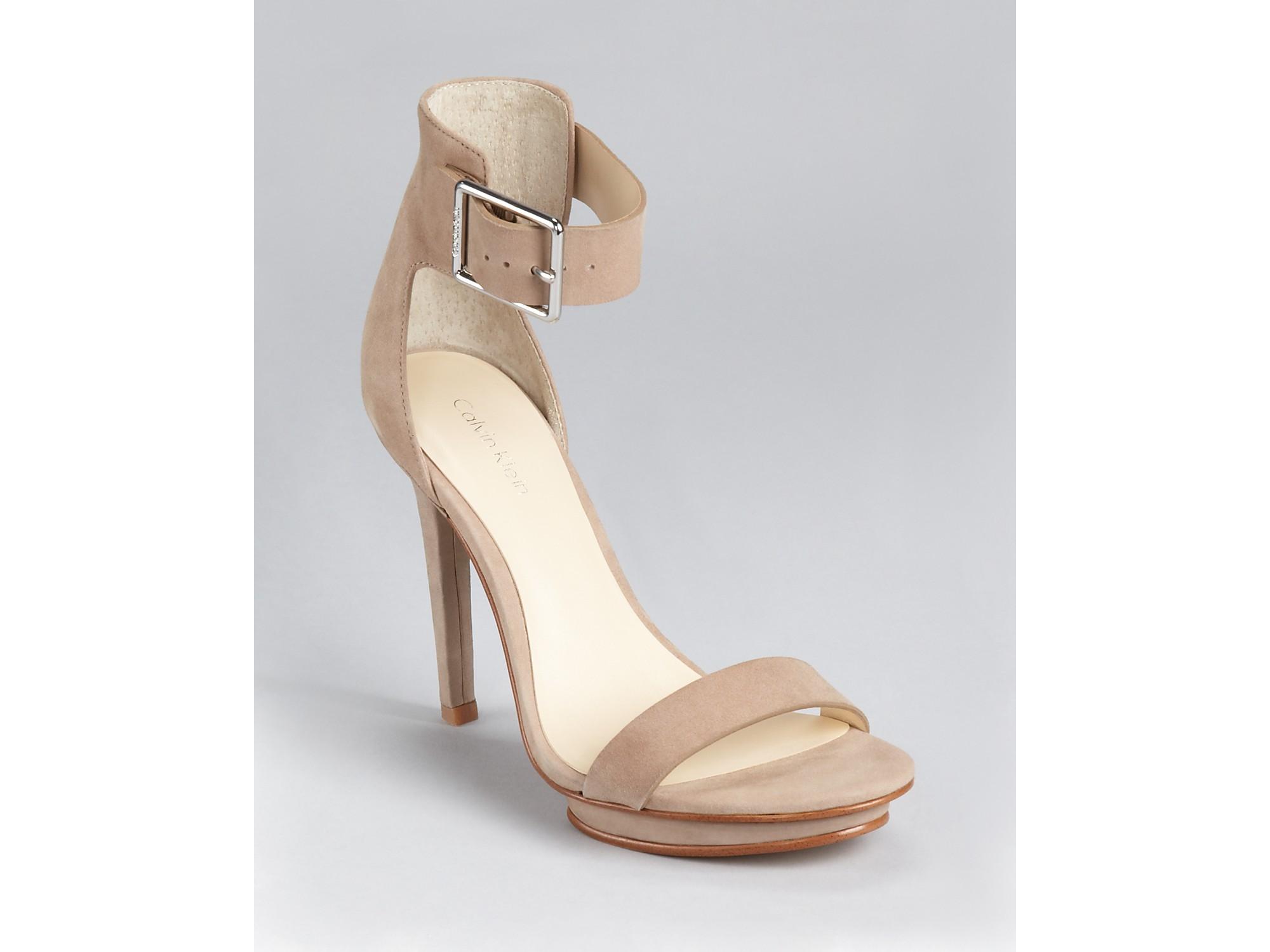06cdf9ce7be3 Lyst - Calvin Klein Sandals Vivian Ankle Strap in Brown