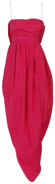 Carven Strapless Taffeta Prom Dress - Lyst