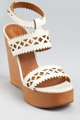 Chloé Laser Cut Out Wedges  - Lyst