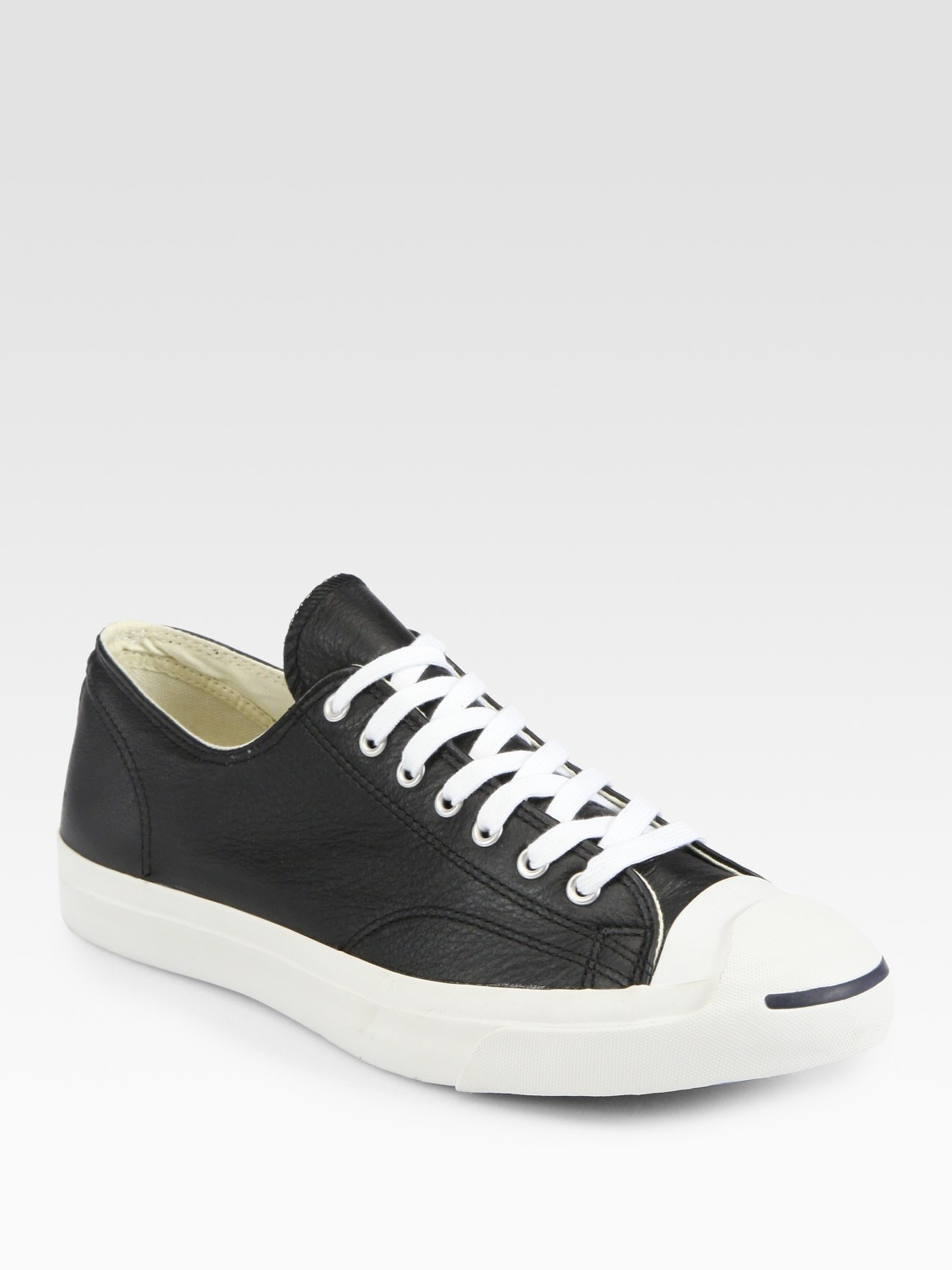 1eac426c119e Lyst - Converse Jack Purcell Leather Oxford Sneakers in Black for Men