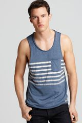 Converse Black Canvas Stripe Tank in Blue for Men (china blue) - Lyst