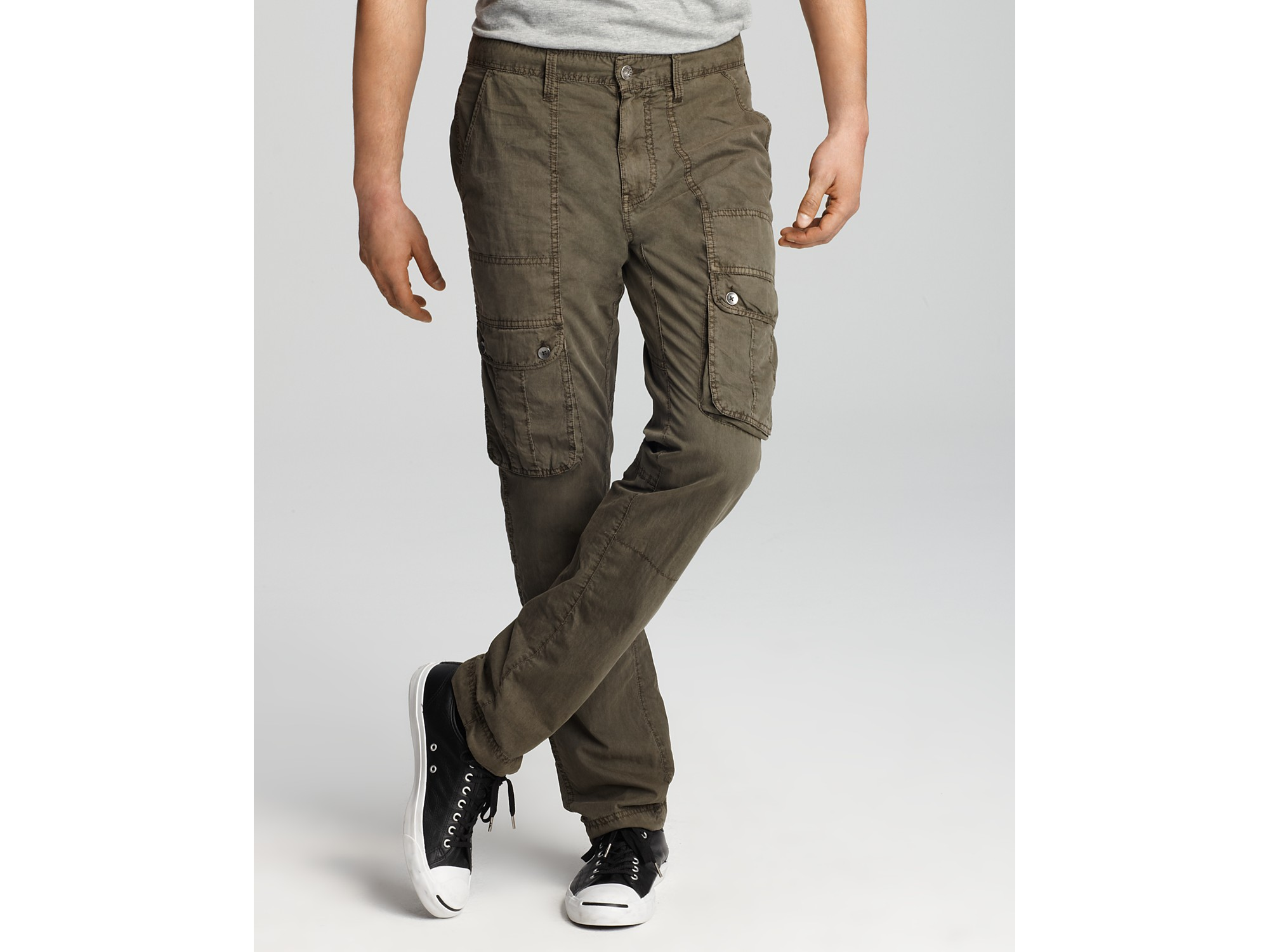 Images of Slim Fit Cargo Pants Men - Kianes